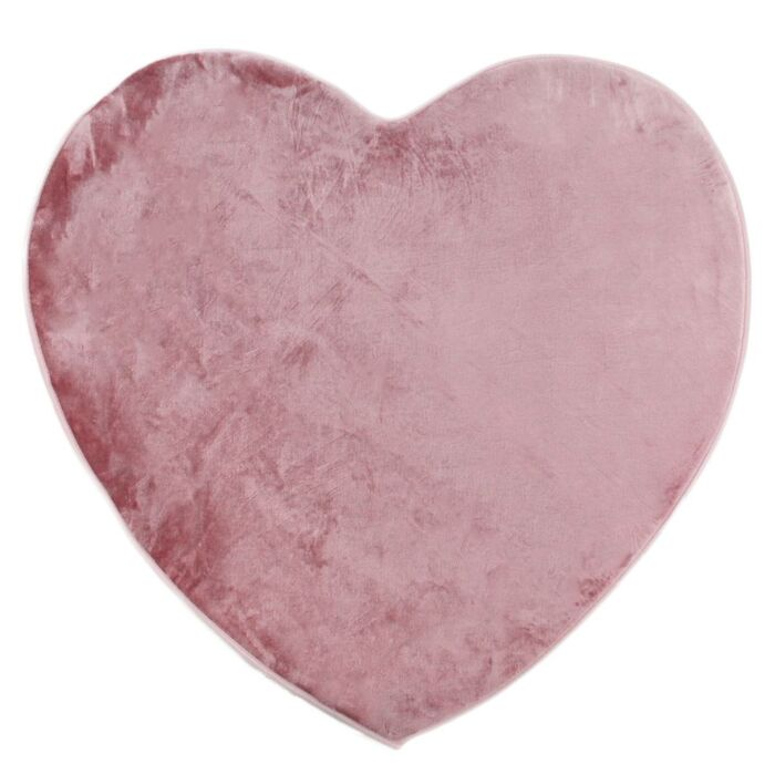 Tapis FLANELLE LOVE (85x90) rose poudr
