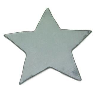 Tapis forme étoile gris nuage extra doux 90x90cm Flanelle