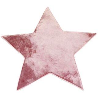 Tapis forme étoile rose poudré 90x90cm Flanelle