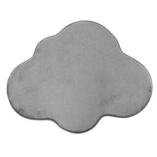 Tapis forme nuage gris 90x70cm Flanelle