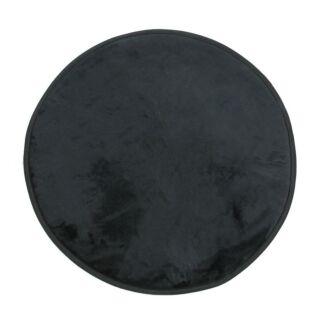 Tapis rond noir diam. 70cm Flanelle