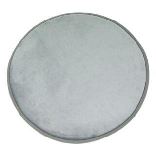 Tapis rond gris nuage 70x70cm Flanelle