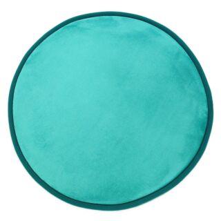 Tapis rond turquoise diam 70cm Flanelle