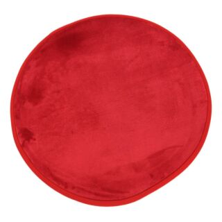 Tapis rond rouge diam. 70cm Flanelle