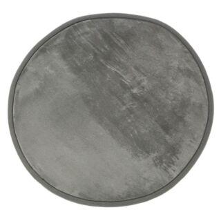 Tapis rond gris diam. 70cm Flanelle