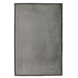 Tapis Flanelle gris extra doux 60x90cm