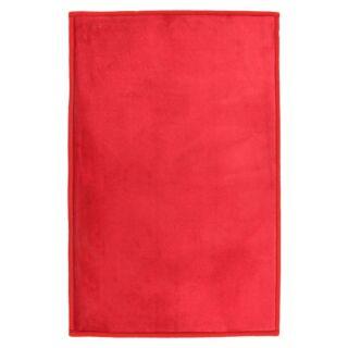 Tapis Flanelle extra doux rouge 60x90cm