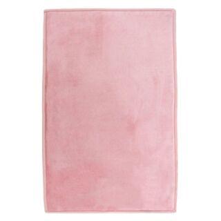 Tapis Flanelle rose 60x90cm