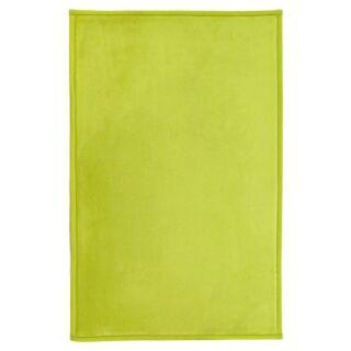 Tapis Flanelle extra doux vert anis 60x90cm