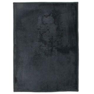 Tapis noir extra doux 170x120cm Flanelle