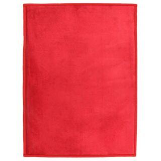 Tapis extra doux rouge 120x170cm Flanelle